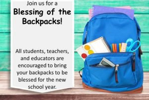 Blessing of the Backpacks 2019